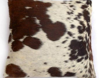Natural Cowhide Luxurious Hair On Cushion/ Pillow Cover (15''x 15'') A34