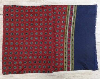 "Vintage Hipster Mens scarf 156cm x 33cm / 61.4"" x 11"""