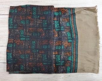 "Vintage Hipster Mens scarf 116cm x 28cm / 45.6"" x 11"""