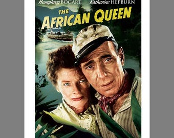 Poster advertisement on foam board  for the 1951 movie  The African Queen