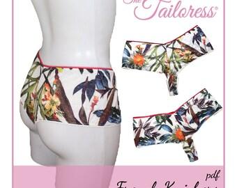 Jersey French Knickers Underwear Lingerie Digital ePattern Instant Download PDF Sewing Pattern - Sizes 4-18