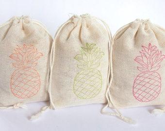 Pineapple Luau Bags Set 15 birthday party baby shower goodies treat bag