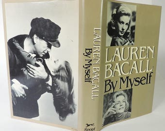 "Lauren Bacall ""By Myself"" Signed First Edition Autobiography"