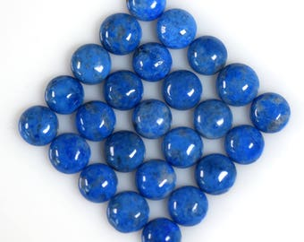 Natural Lapis Lazuli 8mm Round Cabochons Twelve Piece Lot