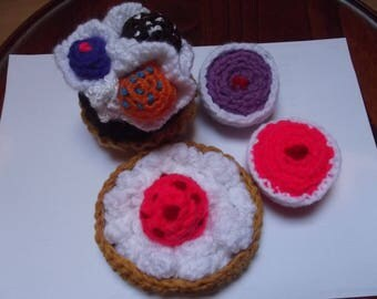 4 cakes wool, sizes, for play baking