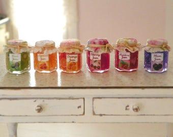 dollhouse miniature jar jams