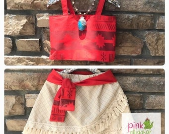 MOANA costume outfit 2pc custom set - Sizes 12m to girls 8