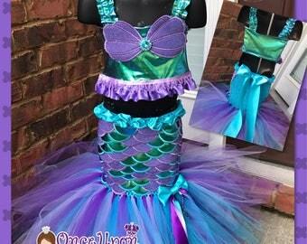 Mermaid tutu. Mermaid Birthday tutu. Mermaid costume. Little metmaid tutu. Pagent costume. Mermaid dress. Mermaid outfit. Under the sea tutu