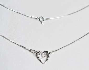 """Silver necklace 925 """"heart"""""""