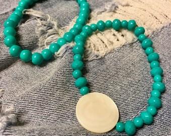 Sisterhood Beaded Set in Turquoise