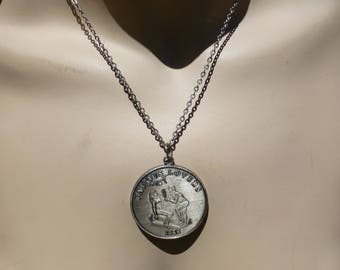 Naughty 1968 Eros Lovers Necklace, New Orleans Mardi Gras, Silver Plated Necklace, Groovy, Wow!