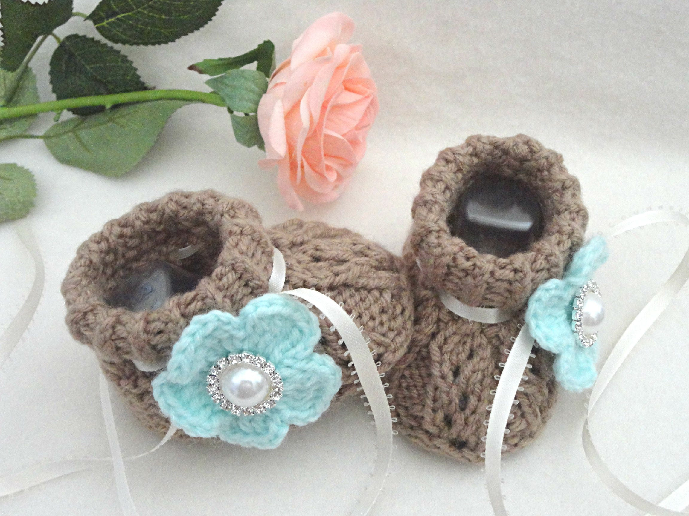 Knitting PATTERN Baby Shoes Knitted Baby Girl Shoes Knitting Pattern