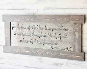 Scripture Art, Metal Signs, Scripture Wall Art, Metal Wall Art, Wall Hanging