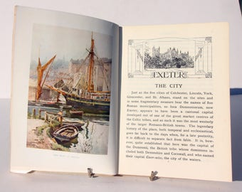 Exeter Illustrated Vintage Books 1940s picture book of the city Travel guide book Britain Antique