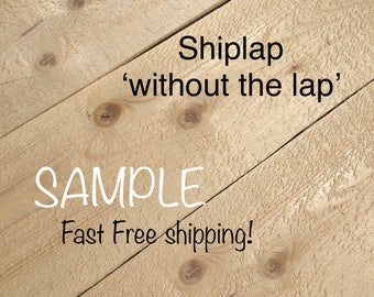 Sample -- Shiplap without the lap repurposed pine wood