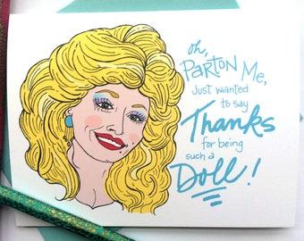Dolly Parton Thank You Greeting Card