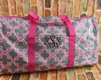 On SALE Duffle Bag | Personalized Duffle Bag | Overnight Tote Bag |  Monogrammed Carry On | Monogrammed Duffle Bag | Pink Duffle Bag | Tote