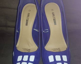 Doctor Who TARDIS high heel shoes