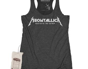 Cat Shirt - Meowtallica Women's Parody Heavy Metal shirt