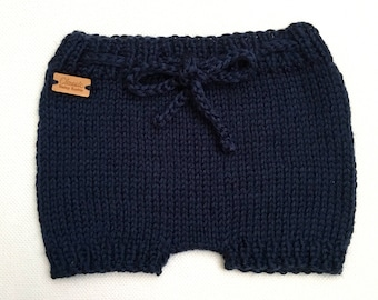 Knit Baby Shorties / Knit Diaper Cover / Knitted Bloomers