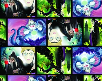 PRE-ORDER LIMITED - 2017 Springs Creative Release - Disney Villians - 2 Fabrics to Choose From – 100% Cotton Woven