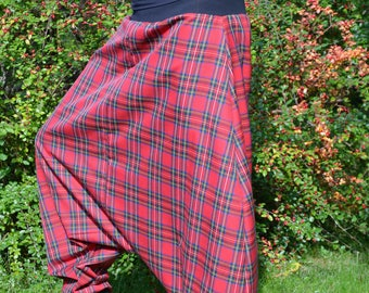 Harem pants checkered red harem pants harem pants size 42