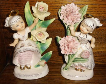Lefton Birthday Angel Figurines Choice March or May 1950's Geo Z Lefton 985