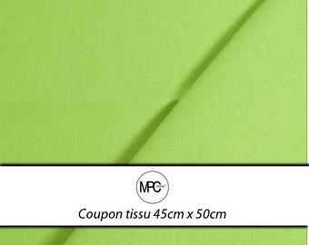 Fabric coupon Poplin cotton Green Apple 45 x 50cm