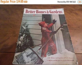 Save 25% Now Vintage January 1940 Better Homes and Gardens Magazine Excellent Condition Neat Old Ads Complete
