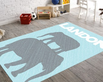 Elephant Rug, Elephant Nursery Rug, Elephant Nursery Decor, Rugs For  Nursery, Playroom