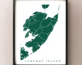 Lamèque Island Map - New Brunswick Art Poster