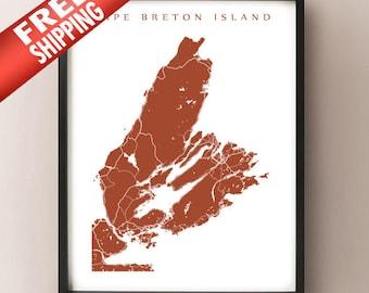 Cape Breton Island, Nova Scotia Map Print