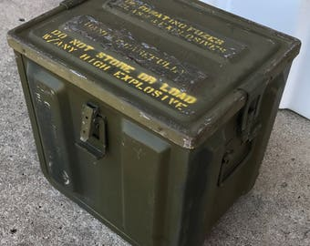 1950's US Navy Ammo Can for Components LARGE!