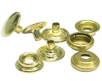 """100qtyc.s.osborne K2717-20-c Shiny Gold Brass Snap Set,size 20 Baby Snaps1/2"""""""