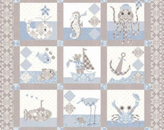 Sailor Baby Quilt Pattern by Bunny Hill Designs