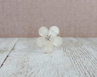 White Flower - Small Flower - Summer - Wedding - Gift Idea - Lapel Pin