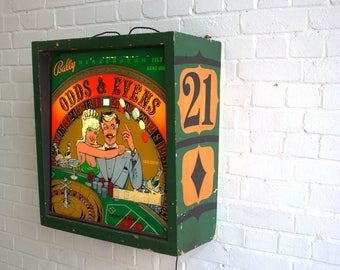 Bally Pinball Machine Lightbox Circa 1970's