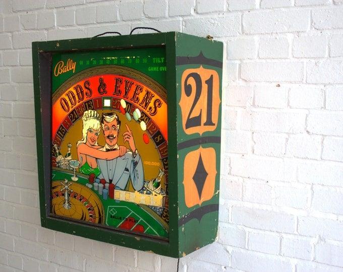 Bally Pinball Machine Lightbox Circa 1970's
