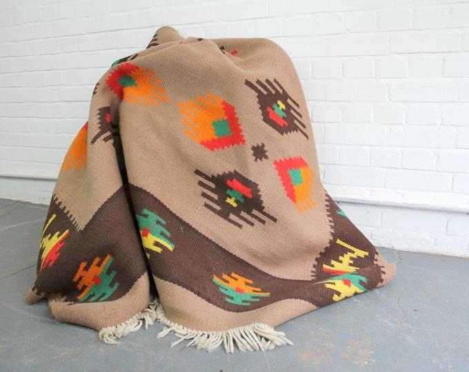 Large Hand Woven Kilim Rug Circa 1950s