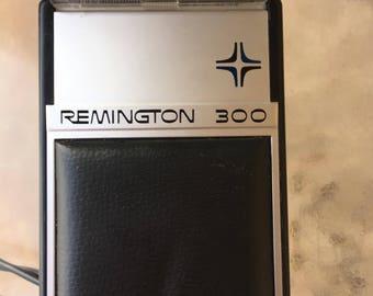 Remington 300 Shaver, Travel Shaver,  Electric Razor, Airline Razor, Remington Razor, Vintage Remington, Mid Century Razor, 60's Shaver