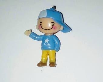X 1 little boy and his blue kawaii Hat