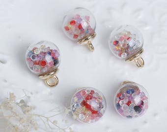 X 1 21X16mm multicolor crystal glass Globe pendant