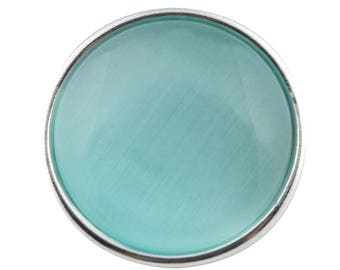 Button pressure 18mm turquoise cat's eye