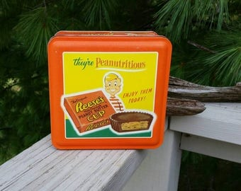 1997 Reese's Peanut Butter Cup Tin #3 in Series - they're Peanutritiou