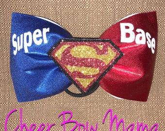 Super Base Superman Cheer Bow - No Tails