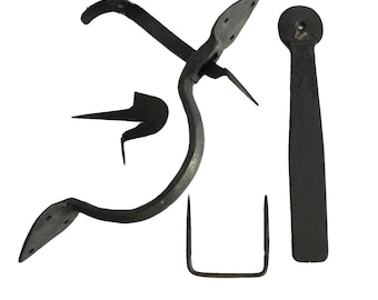 Colonial Wrought Iron SPEAR THUMB LATCH set hand made door hardware for restoration