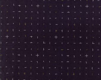 1/2 Yard - Fragile - Almost Plus - Black - Zen Chic - Brigitte Heitland - Moda - Fabric Yardage - 1634 17