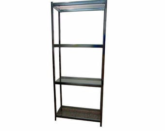 Mid Century Danish Modern Chrome Milo Baughman Free Space Etagere/Shelf #1