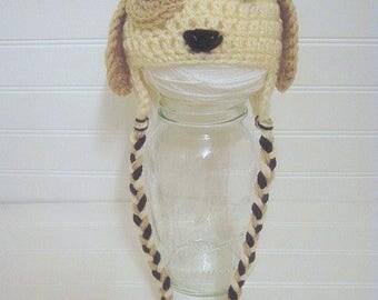 Puppy Baby Hat, Crochet Puppy Hat, Newborn Puppy Hat, baby shower gift, new baby gift, Puppy Hat, Puppy Photo Props, Newborn Prop Hat