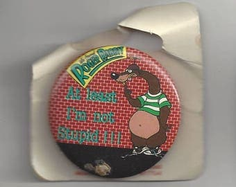 Roger Rabbit At Least I'm Not Stupid Pinback Button